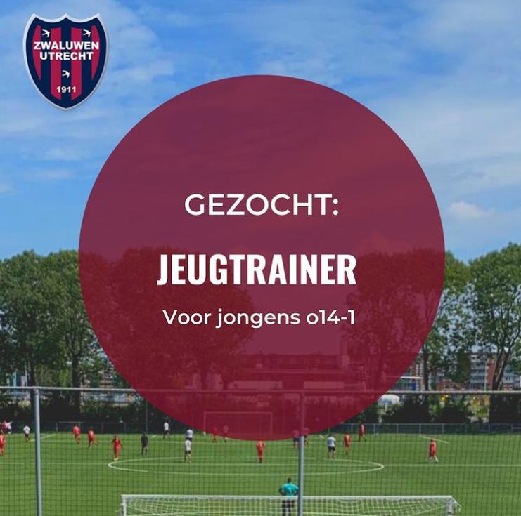 Gezocht: Trainer voor Jongens O14-1