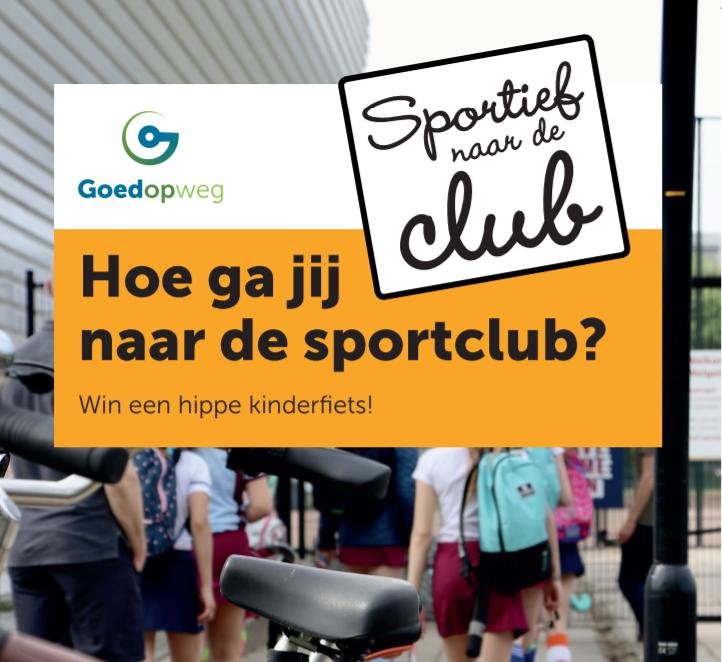 Wees sportief en fiets naar de club!
